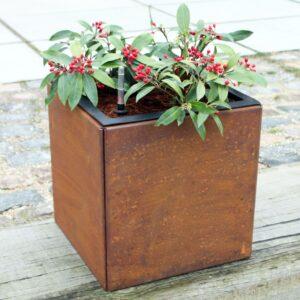 40 x 40 cm Pflanzkübel mit Einsatz fur Bewässerung aus Land Hochbeet