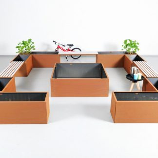 Pflanzkübel-Set Treffpunkt mit 9 Pflanzkübel aus Land Hochbeet
